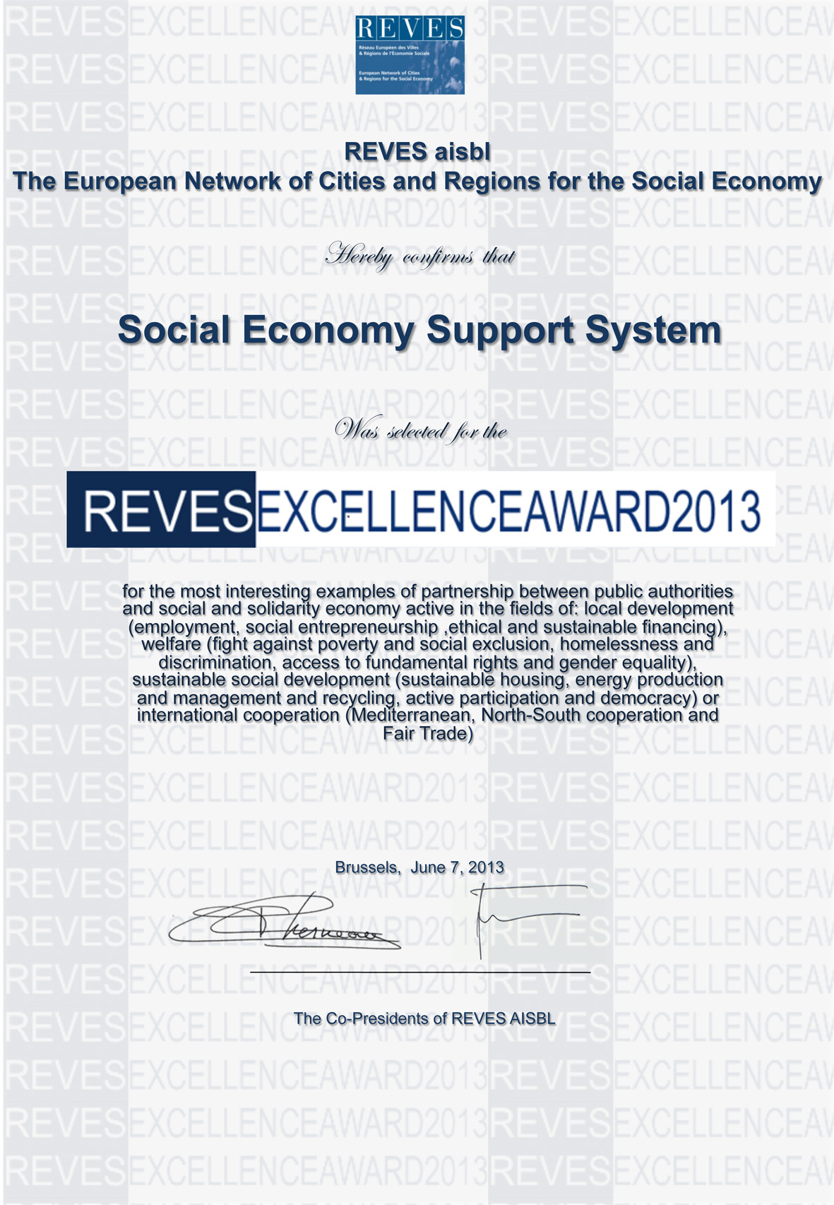 certificate_Social_Economy_Support_System